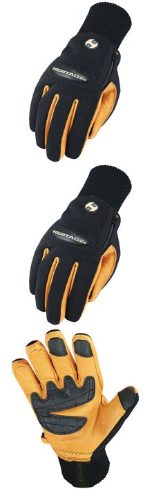 Riding Gloves 95104: 07 Size Heritage Winter Work Horse Riding Equestrian Gloves Black Tan -> BUY IT NOW ONLY: $43.95 on eBay!