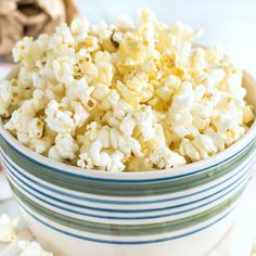 A super quick and easy homemade Sweet and Salty Popcorn recipe. Freshly popped popcorn in the microwave dressed in butter, honey, sea salt and vanilla.