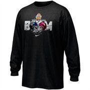 Nike UCONN Huskies vs. Oklahoma Sooners Black Fiesta Bowl Dueling Boom Long Sleeve T-shirt