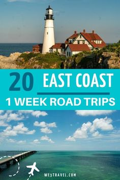 20 East Coast road trips to fit into a week long vacation. Start planning your summer vacation with one of these road trip ideas for the USA East Coast from Maine to Florida. #roadtrips East Coast Usa, East Coast Travel, East Coast Road Trip, East Coast Family Vacations, Maine Road Trip, Road Trip Usa, Road Trip With Kids, Family Road Trips, Family Travel