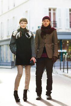 Those EARRINGS!! // On the Street….Le Marais, Paris « The Sartorialist