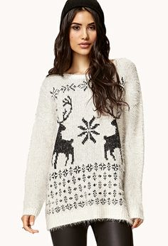 Mixed Knit Boyfriend Sweater | FOREVER21 - 2000110720 ...