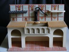 Dolls-house-minatures-old-fashioned-sink-1-12th-scale
