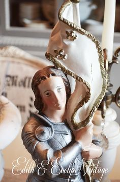 Rare Antique Joan of Arc Statue Jeanne d Arc by edithandevelyn on Etsy