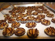 Chocolate and Caramel Cookies/Gateaux chocolat et caramel-Sousoukitchen