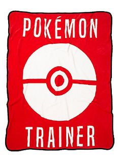 "Soft & comfy throw from <i>Pokemon</i> featuring a red & white ""Pokemon Trainer"" themed design. Black trim.<br><ul><li style=""list-style-position: inside !important; list-style-type: disc !important"">46"" x 60""</li><li style=""list-style-position: inside !important; list-style-type: disc !important"">100% polyester</li><li style=""list-style-position: inside !important; list-style-type: disc !important"">Imported<br></li></ul>"