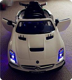 White Mercedes SLS V12 Kids Ride-On Car LED Wheels &Remote Control  http://www.bestdealstoys.com/white-mercedes-sls-v12-kids-ride-on-car-led-wheels-remote-control/