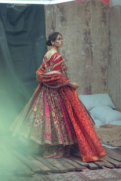 Zarmisha Dar New Bridal Couture Collection Husn-E-Kham