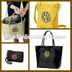 Monogram purses #fallfashion #theembroiderypalace
