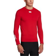 BARGAIN Canterbury Men's Baselayer Cold Long Sleeve Top – Red – Medium WAS £30 NOW £8.46 At Amazon - Gratisfaction UK Flash Bargains #flashbargains #gratfitness #gratclothing