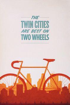 poster design twin cities biking 10 Posters ideales para inspirarte