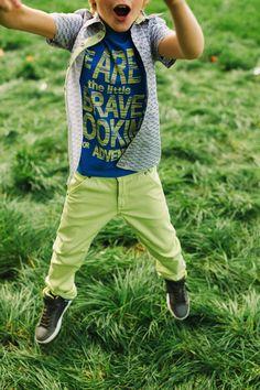Rumbl Outfit | stoere opvallende spijkerbroek lime geel | www.kienk.nl