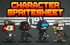 Check out Characters Spritesheet 19 by pzUH on Creative Market