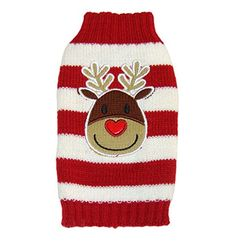 Scheppend Christmas New Year Red White Stripe Elk Pattern Pet Dog Sweater for Winter,XXL Scheppend Christmas New Year Red White Stripe Elk Pattern Pet Dog Sweater for Winter Size: XXS Read  more http://dogpoundspot.com/scheppend-christmas-new-year-red-white-stripe-elk-pattern-pet-dog-sweater-for-winterxxl/  Visit http://dogpoundspot.com for more dog review products