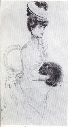 Consuelo Vanderbilt, Duchess of Malborough by Paul Helleu (1900)