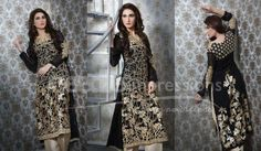 Needle Impression Women Embroidered Party Wear Dresses 2014