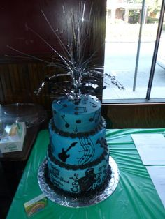 Blues cake for the Capote Benefit.