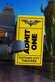A ticket to my movie is so good looking that I didn't mind it taking up the whole picture. Click now to get the hottest accessory of the month. | The LEGO® Batman Movie | In theaters now