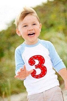 Create Your Own Personalized Birthday Number or Initial Raglan (Baseball Style) on Etsy, $16.00