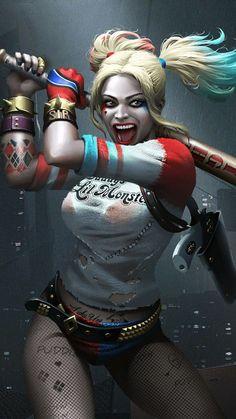 Harley Quinn Tattoo, Harley Quinn Drawing, Joker And Harley Quinn, Princesa Disney Frozen, Daddys Lil Monster, Injustice 2, Girl Tattoos, Tattoo Girls, Margot Robbie