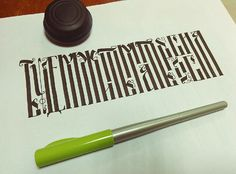 calligraphical sketches on Behance