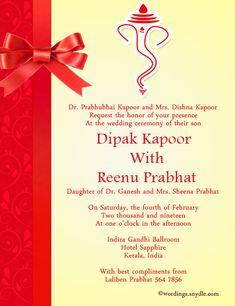 Indian Wedding Invitation Card Format Alepridz