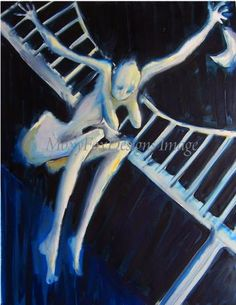 HALLOWEEN SPOOKY NUDE Fine Art Print Moon Bridge Breasts Free US Shipping  by MoxyFoxDesigns for $29.95   http://www.zibbet.com/MoxyFoxDesigns
