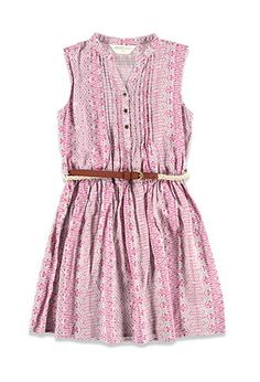 Girls Pintucked Tribal Print Dress (Kids) | Forever 21 girls - 2000077718