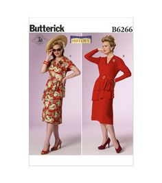 Butterick Pattern B6266-A50 Misses' Costume-6-8-10-12-14
