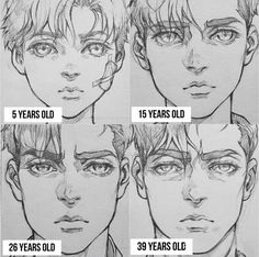 Manga Drawing Tips How to draw a character away different ages. Drawing an aging character Guy Drawing, Drawing Poses, Drawing People, Drawing Tips, Drawing Men Face, Face Art, How To Sketch People, Manga Drawing Tutorials, Drawing Ideas