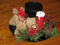 Snowman Hat Centerpiece or a Great Christmas by TheVineDesigns, $14.95