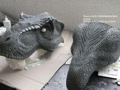 T rex bust 1:4 scale Molding WIP by GalileoN Jurassic Park Raptor, Jurassic Park World, Dinosaur Costume, Dinosaur Art, Sculpture Clay, Sculptures, Zbrush Character, Figure Reference, Extinct Animals