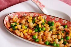 Creveti cu mazare și porumb - Din secretele bucătăriei chinezești Chana Masala, Vegetables, Ethnic Recipes, Food, Essen, Vegetable Recipes, Meals, Yemek, Veggies
