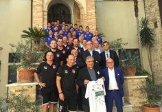 Teramo Calcio: incontro con il Vescovo di TeramoAtri Mons. Michele Seccia