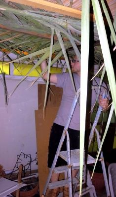 The Jerusalem Heritage House Sukkah is open for business!