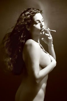 nude and cigar - Does the women make the cigar better or is the women better because of the cigar?