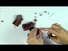 Abalorios Manualidades - Tutorial Pendientes de Plumas - YouTube