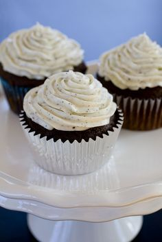 chocolate cupcakes w/ earl grey frosting