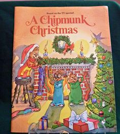 A Chipmunk Christmas Childrens Book Holiday by EauPleineVintage