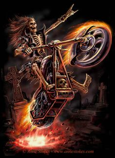 Anne Stokes   Hell Rider