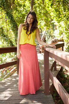 898a09f73a4 Mellow Yellow. Maxi Skirt ...