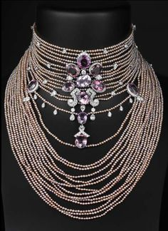 Cartier fabulousness, looks like pearls and diamonds, amethysts
