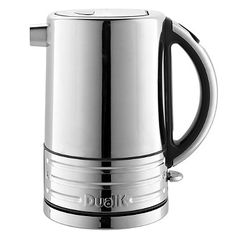 Dualit+Architect+Jug+Kettle - from Lakeland.  Wouldn't ever buy this one but I quite like it's awkward lumpen looks.  Dualite products remind me a bit of Harley Davidson motorcycles.  Too much chrome, oversized, over-the-top and overstated.  Sort of cartoons of products.  Finally what's going on with the puny handle on this thing did they run out of material? £80