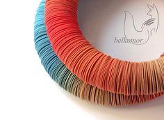 Браслет «Halo» красный вариант - голубой,оранжевый,охра,браслет,чипсы