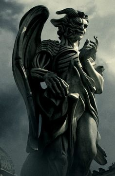 angel and demon statue