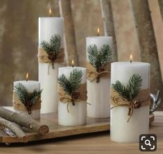 Siberian Fir Fragranced Pillar Candles The Effective Pictures We Offer You About DIY Candles no wax A quality picture can tell you many things. You can find the mo Noel Christmas, Christmas Candles, Christmas Projects, Simple Christmas, Christmas Wreaths, Beautiful Christmas, Advent Wreaths, Modern Christmas, Minimalist Christmas