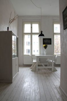 white painted floor