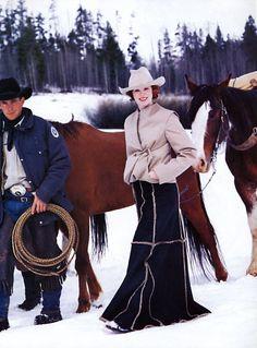 Karen Elson by Arthur Elgort for Vogue US October 1999