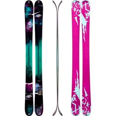 a pair and a spare ----- K2 MissBehaved Women's Twin Tip Skis - though I can't do this anymore, it's fun to think about it once and awhile!  Fun times!!