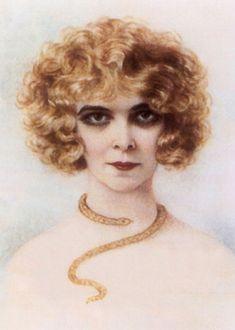 1920年代、ヨーロッパ社交界随一の変わり者と言われた女性=ルイーザ・カサッティ侯爵夫人。 その姿は、顔を死人のように青白く、髪はオレンジ色で、目にはベラドンナを塗って大きくし、濃く黒くアイラインを入れていた。皮紐につないだヒョウを連れたり、又、贅沢に着飾った黒人の召使を連れてローマの街を歩き回った(「風俗史から見た1920年代 狂気と不安定の時代」青木英夫著 源流社 より引用) 知性と財力に恵まれ、独特の美意識と人生哲学によって、当時の芸術家や小説家を支援するパトロネスの一人としても知られていた。 La Marchesa Luisa Casati (portrait from a porcelain miniature, artist unknown, ca. 1920)